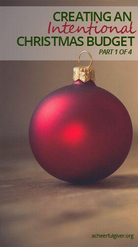 Christmas budget, blog